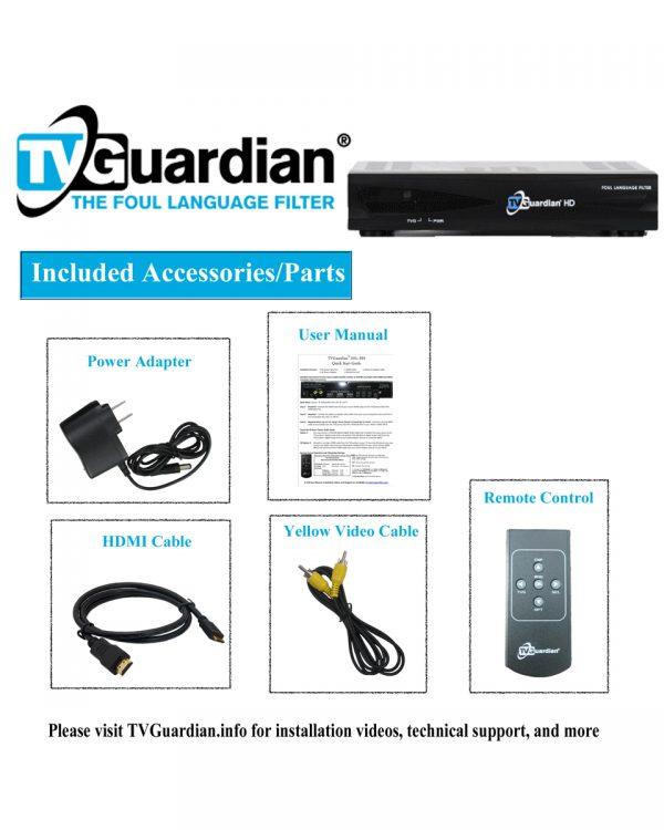 TVGuardian 501 Included Parts