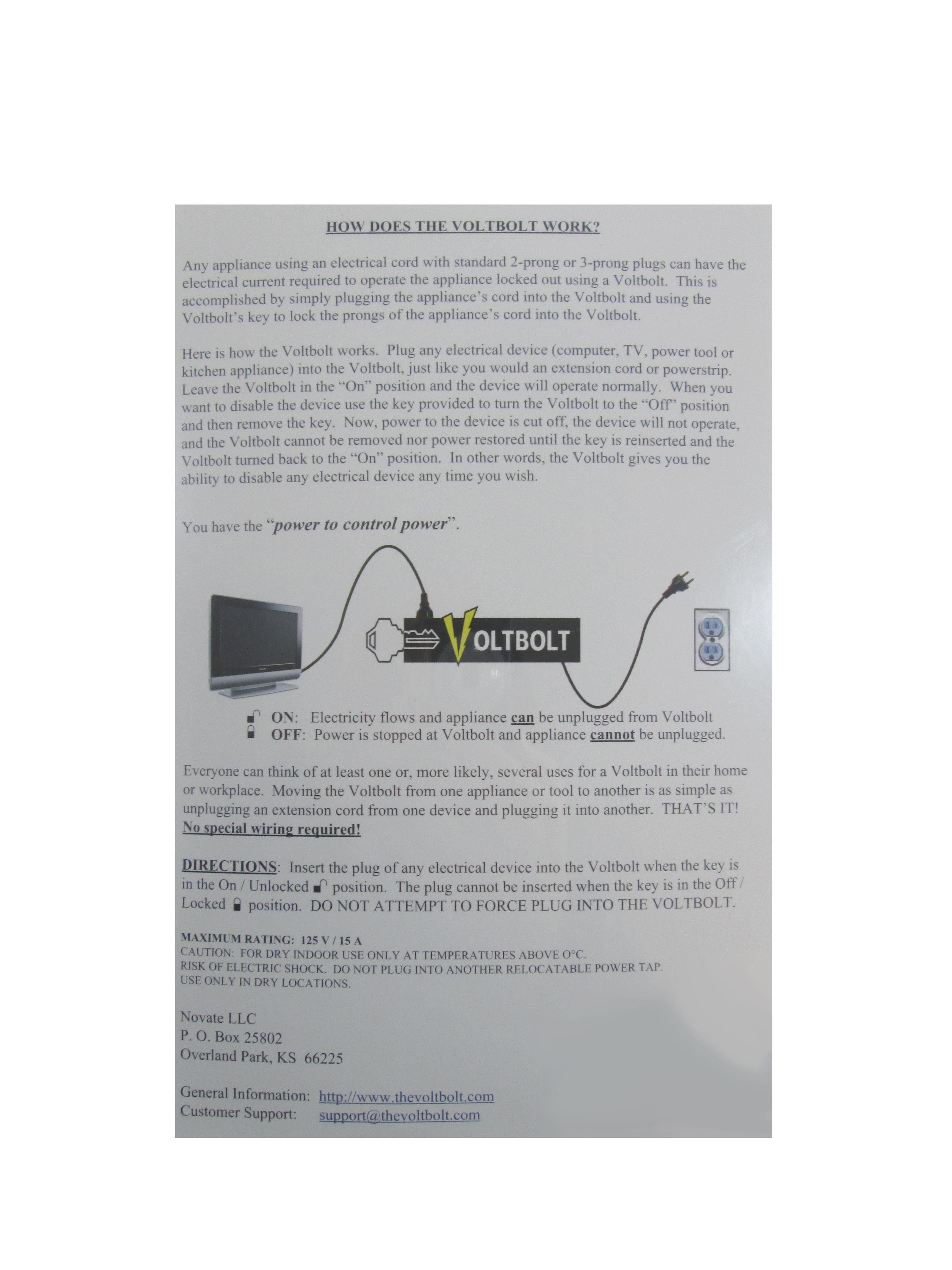VoltBolt Power Plug Lock - TVGuardian